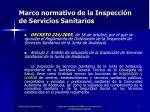 marco normativo de la inspecci n de servicios sanitarios
