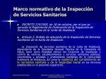 marco normativo de la inspecci n de servicios sanitarios4