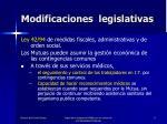 modificaciones legislativas