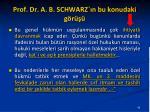 prof dr a b schwarz n bu konudaki g r