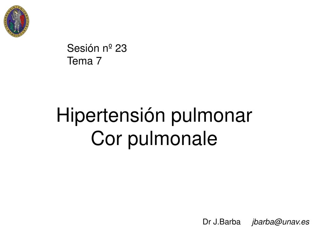 hipertensi n pulmonar cor pulmonale l.
