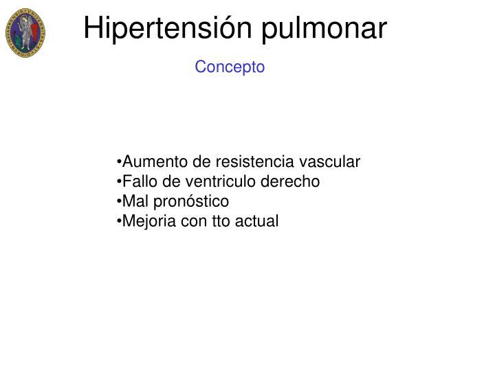PPT - Hipertensión pulmonar Cor pulmonale PowerPoint..