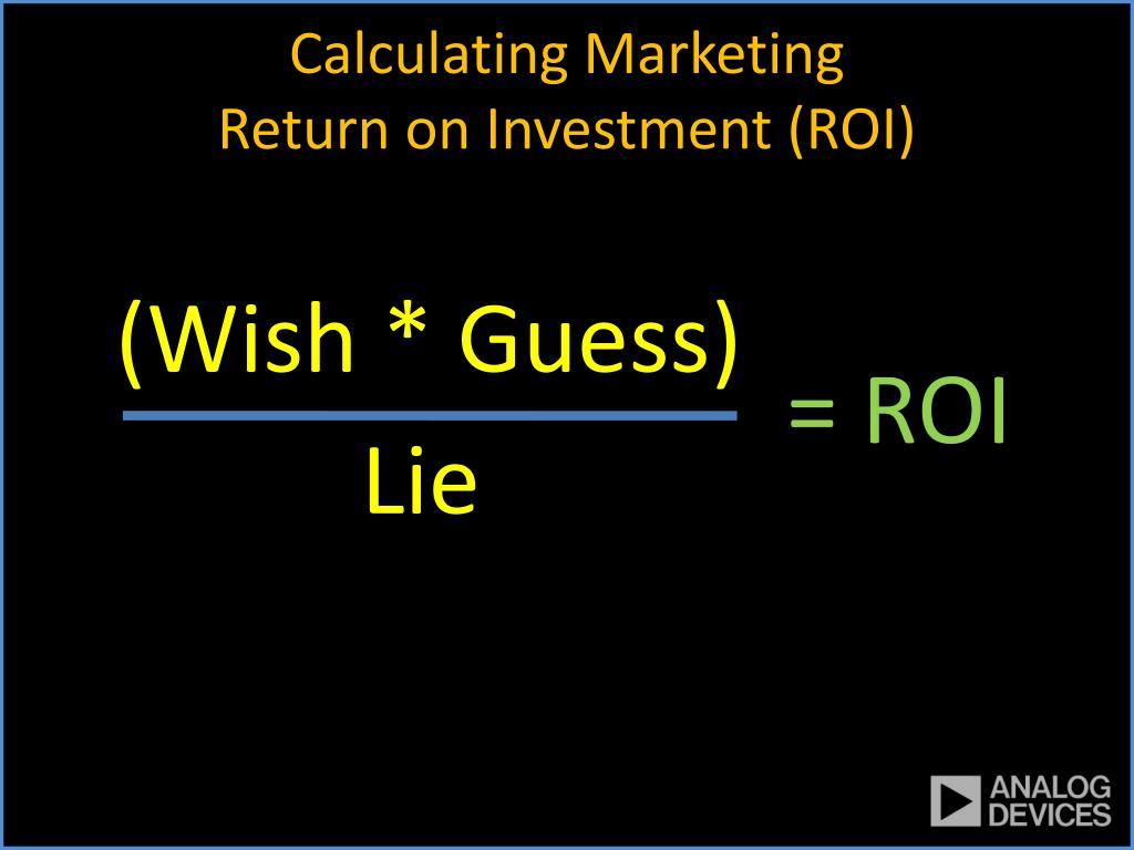 Calculating Marketing
