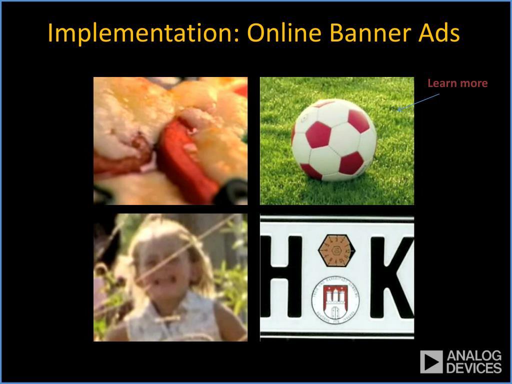 Implementation: Online Banner Ads