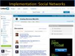 implementation social networks