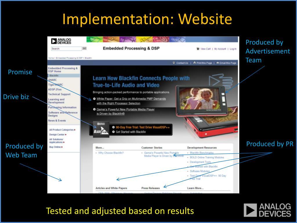 Implementation: Website