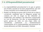 i 4 d responsabilidad precontractual