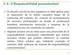 i 4 f responsabilidad poscontractual