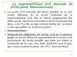 la responsabilidad civil derivada de il cito penal interconexiones