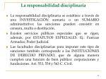la responsabilidad disciplinaria