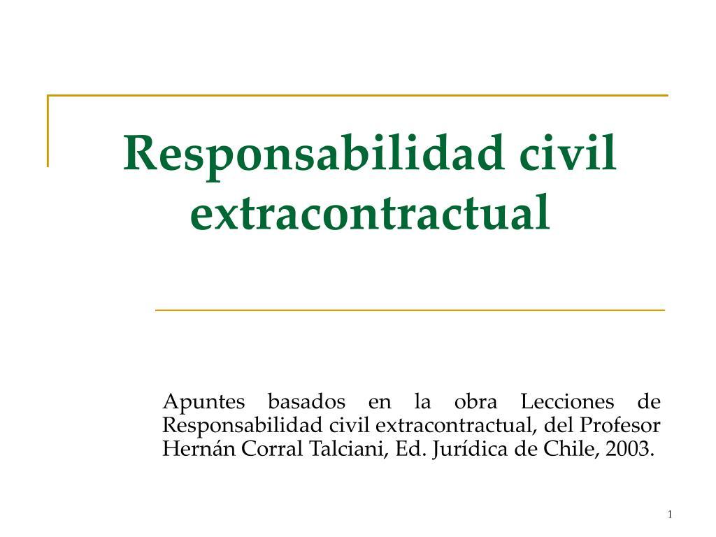 responsabilidad civil extracontractual l.