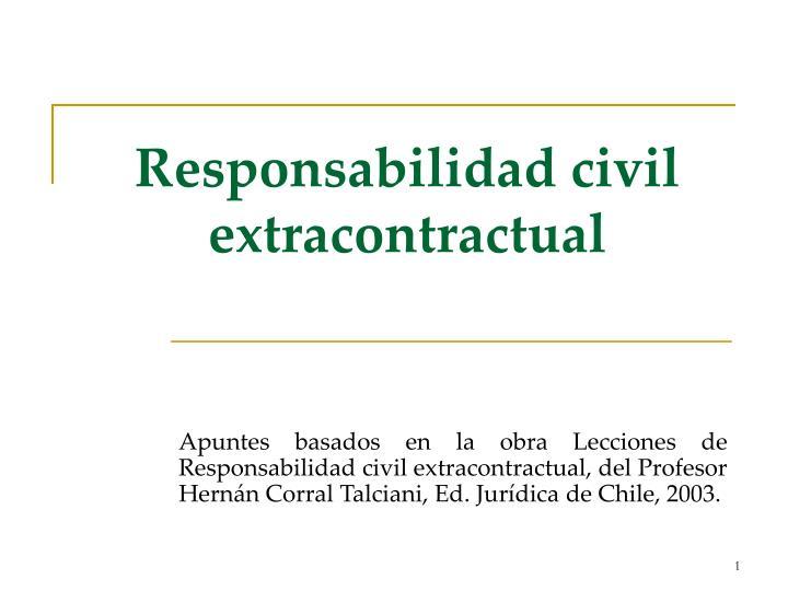 responsabilidad civil extracontractual n.