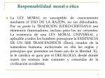 responsabilidad moral o tica