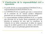 v clasificaci n de la responsabilidad civil o reparatoria