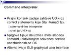 c ommand i nterpreter