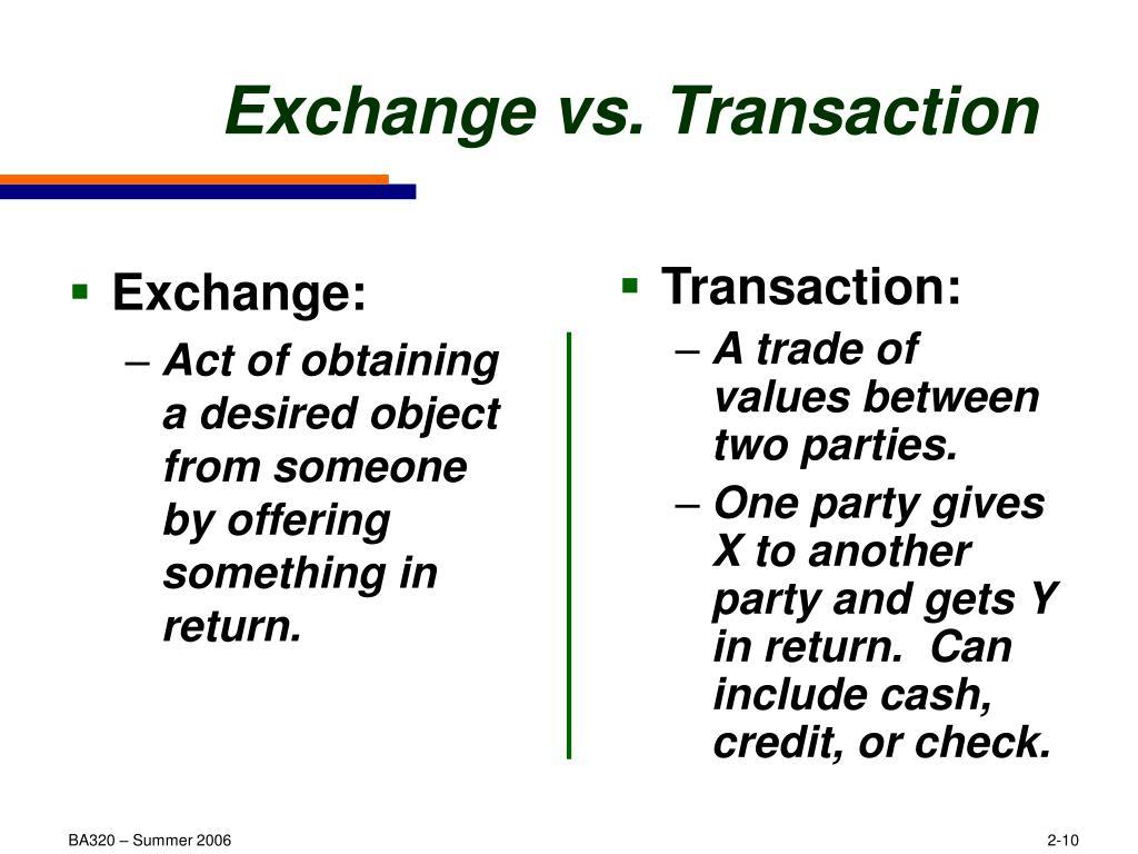 Transaction: