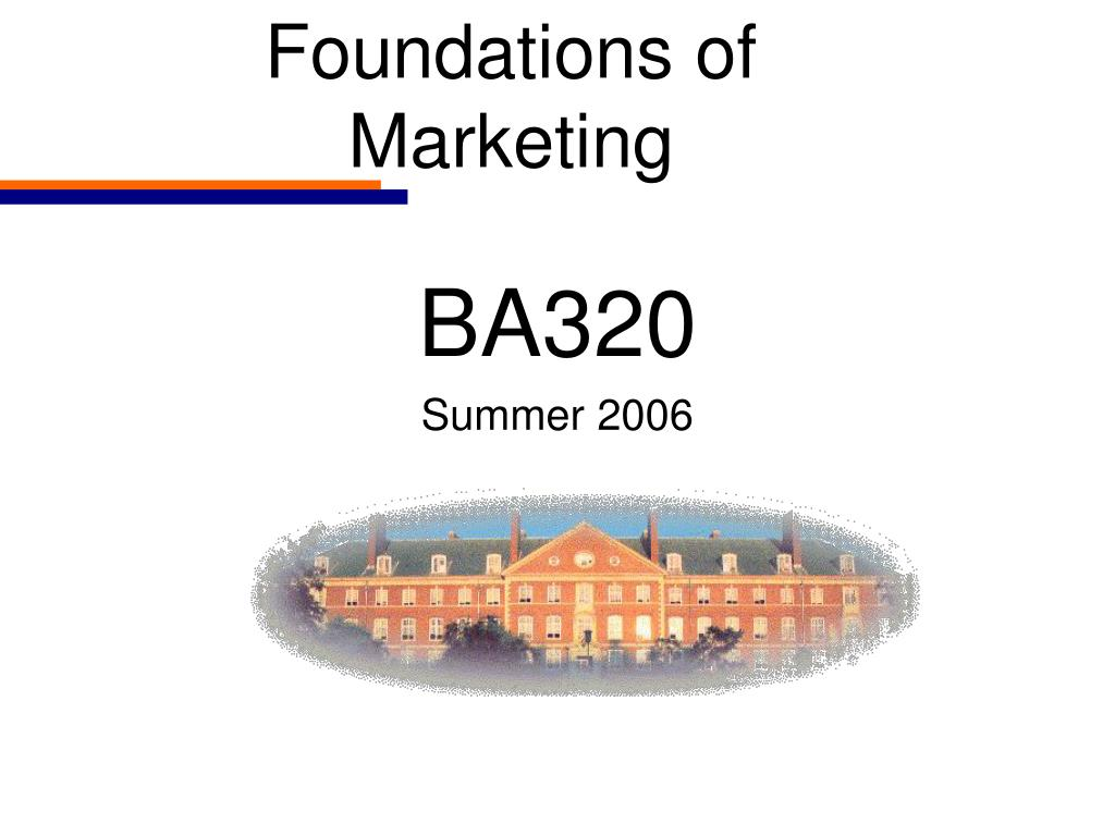 foundations of marketing l.