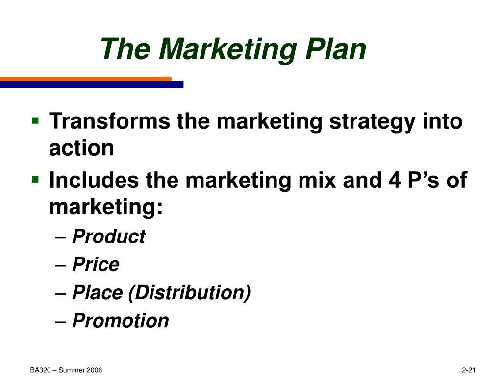 The Marketing Plan