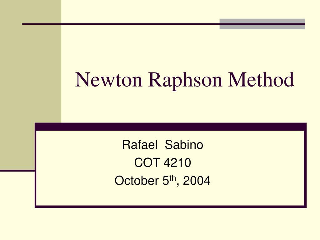 newton raphson method l.