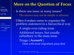 more on the question of focus