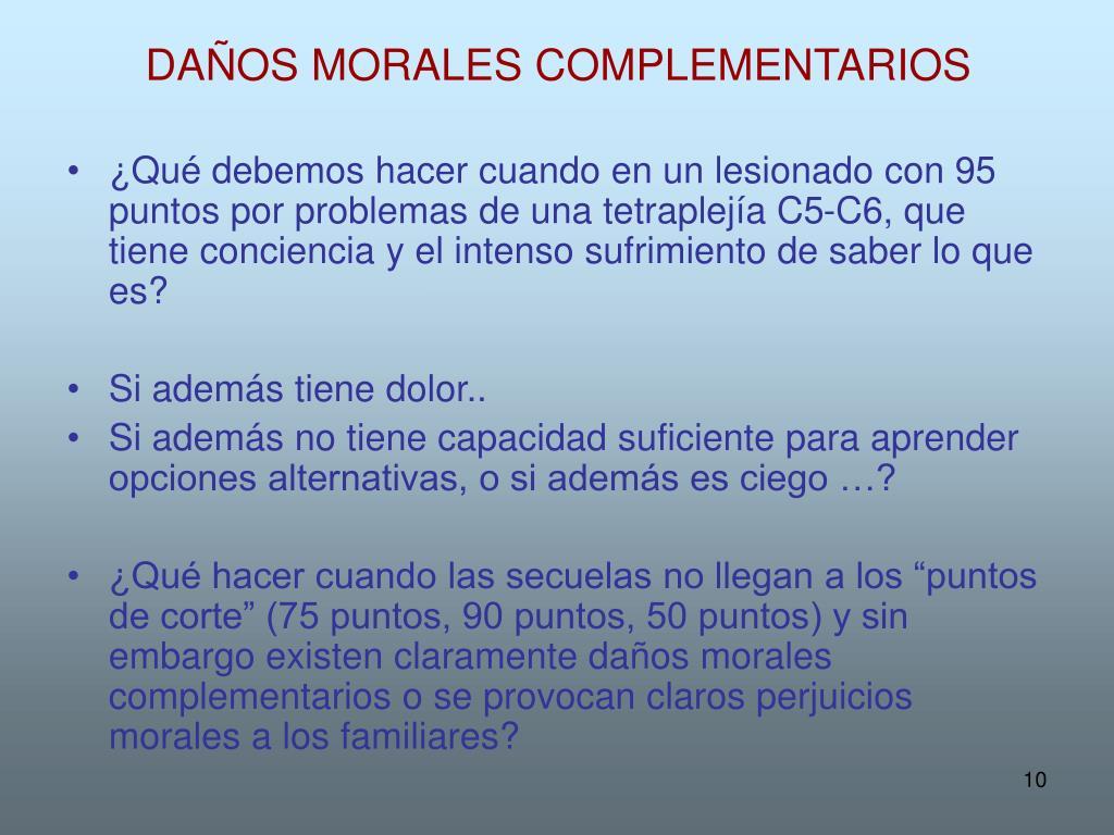DAÑOS MORALES COMPLEMENTARIOS