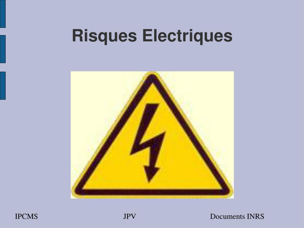 risques electriques l.