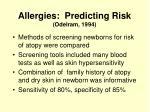 allergies predicting risk odelram 1994