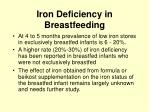 iron deficiency in breastfeeding