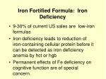 iron fortified formula iron deficiency