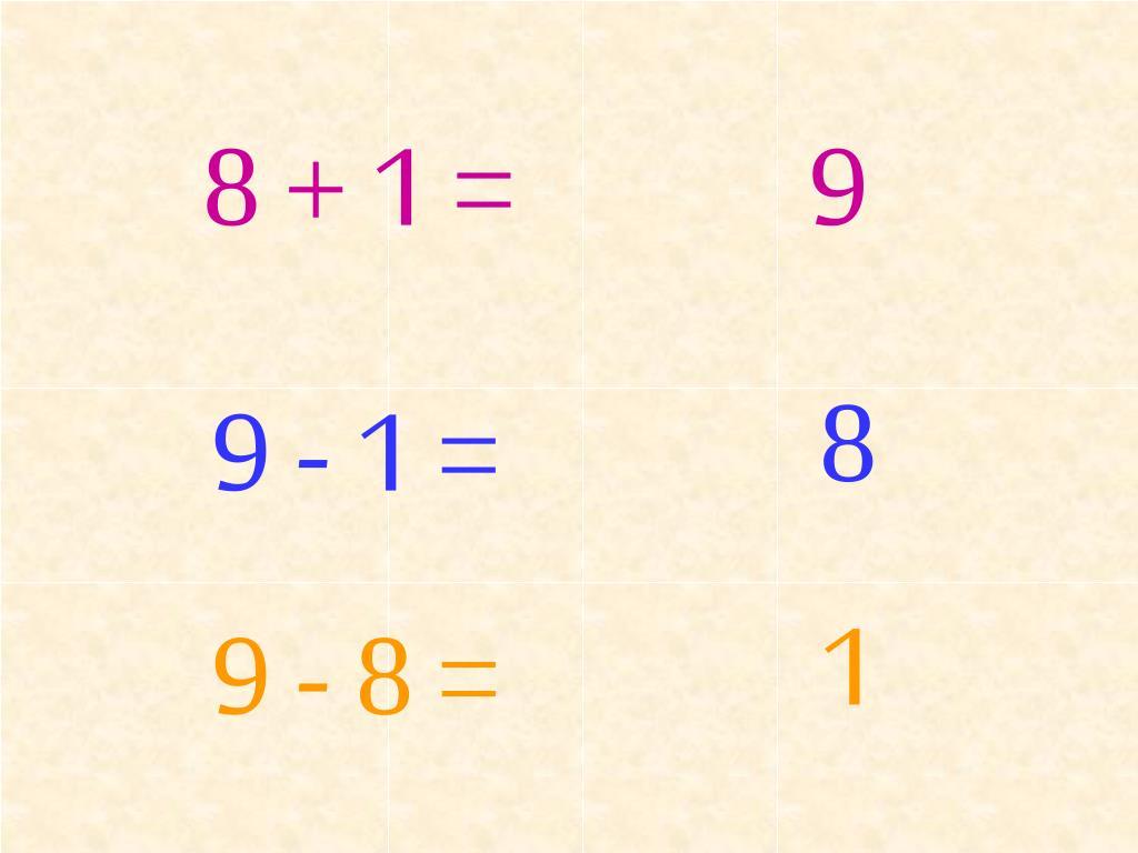 8 + 1 =