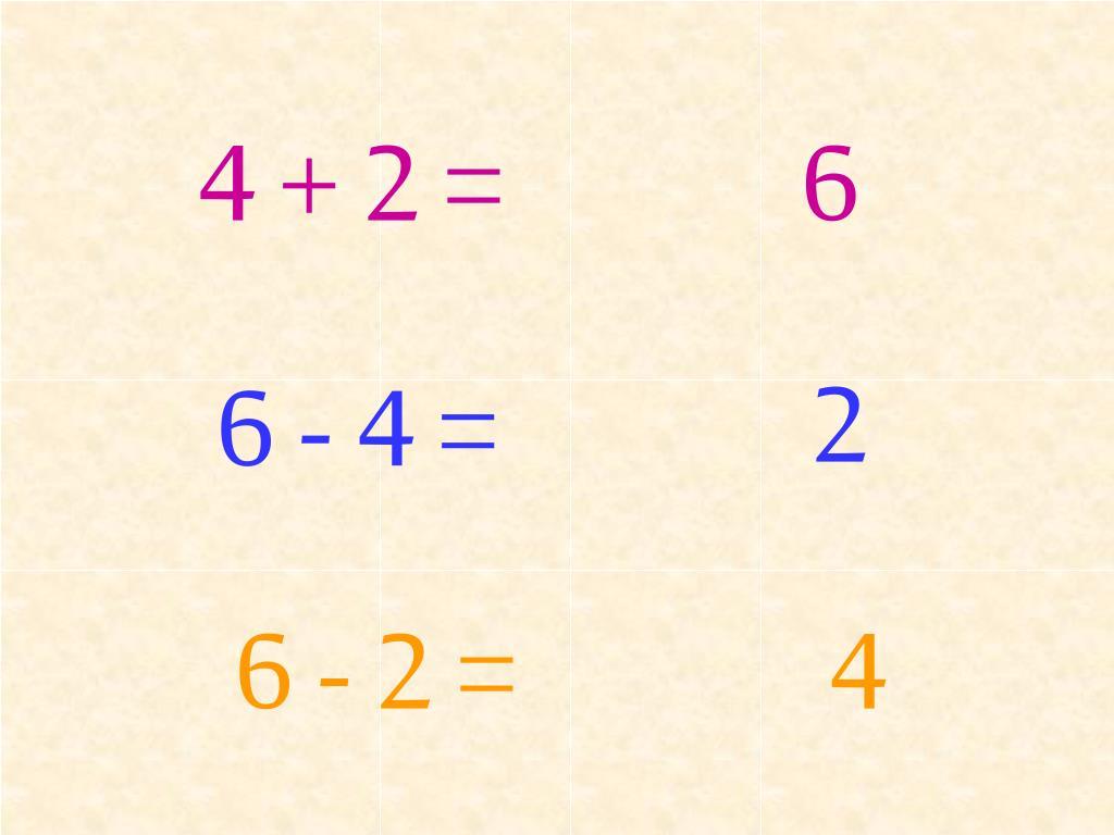 4 + 2 =