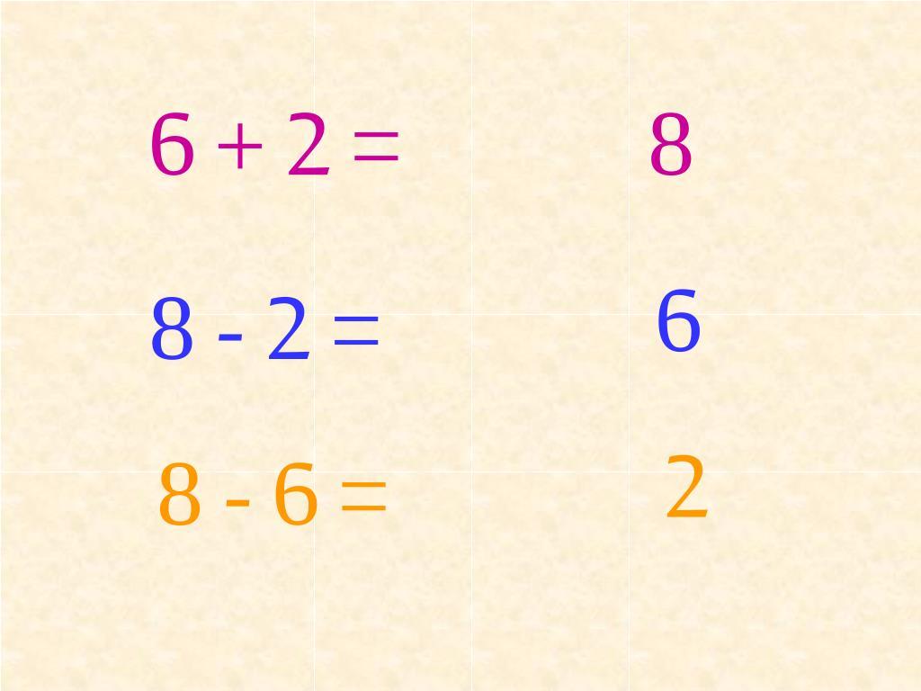 6 + 2 =
