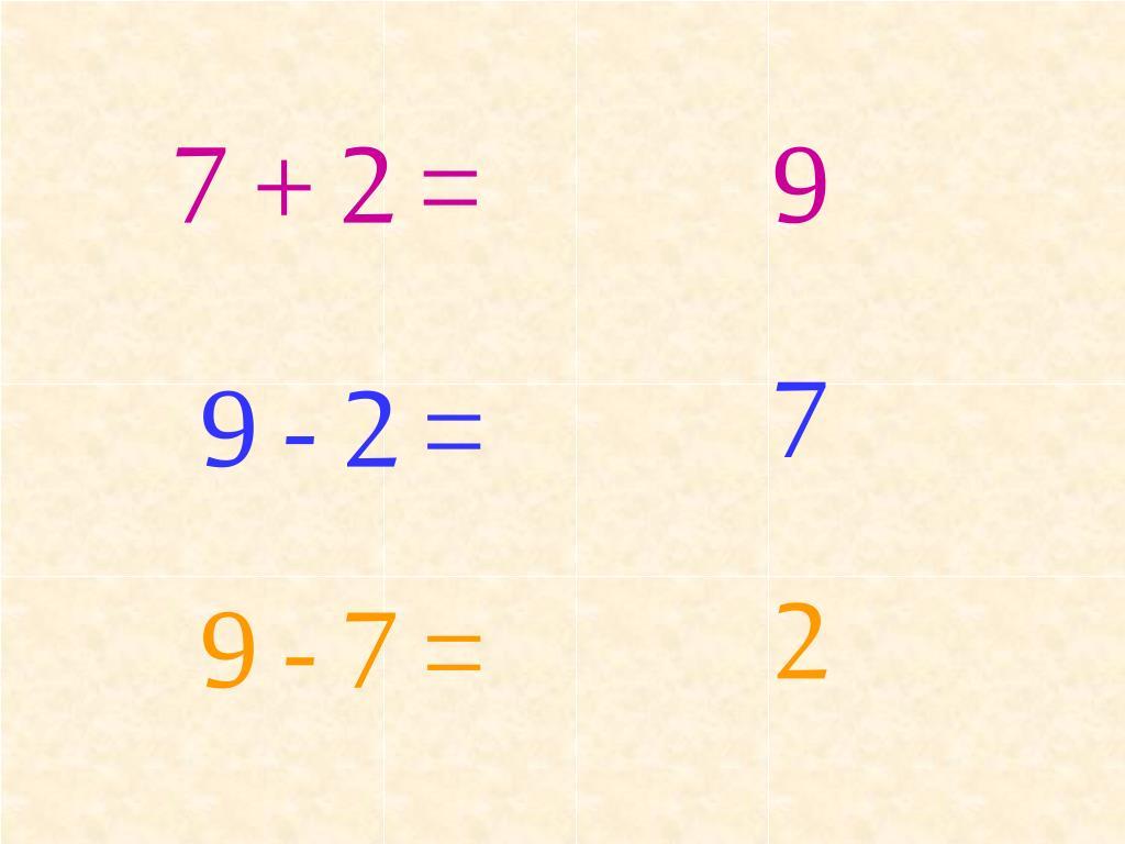 7 + 2 =
