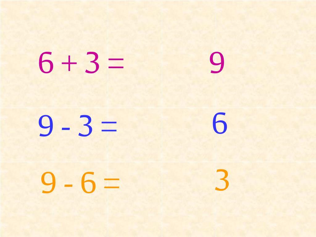 6 + 3 =