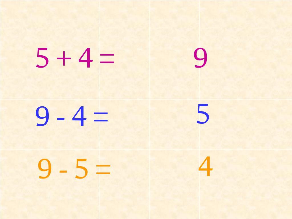 5 + 4 =