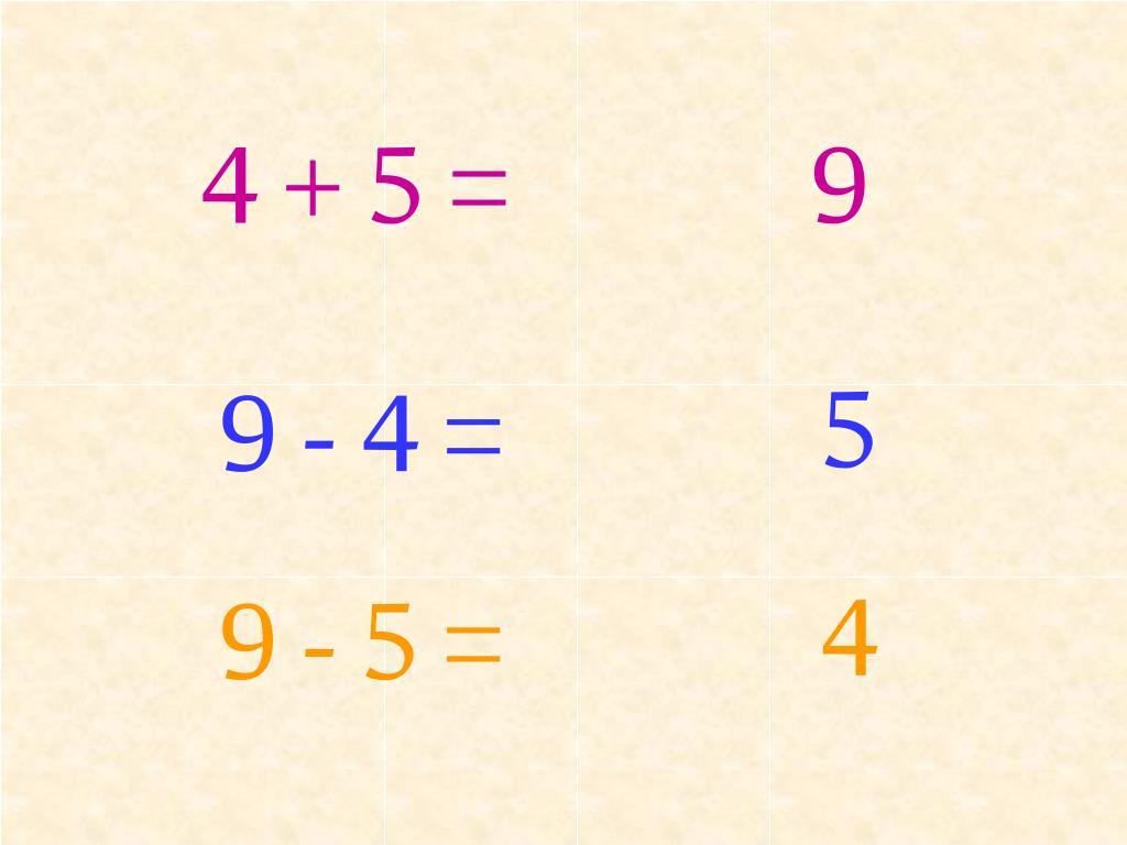 4 + 5 =
