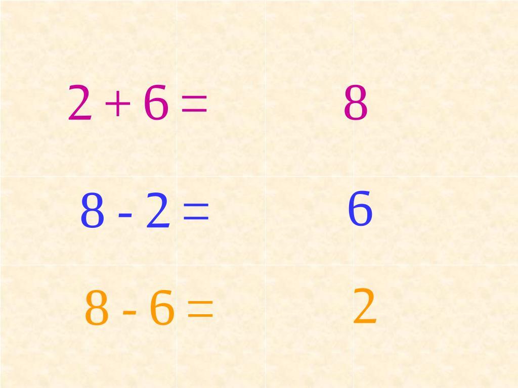 2 + 6 =