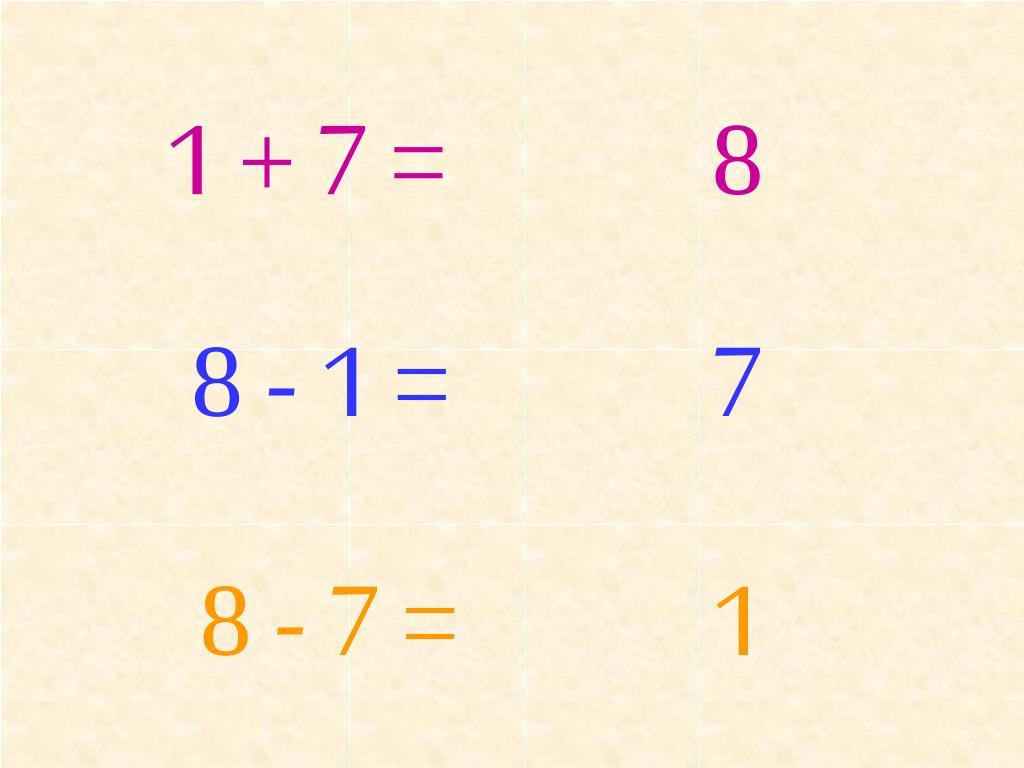 1 + 7 =