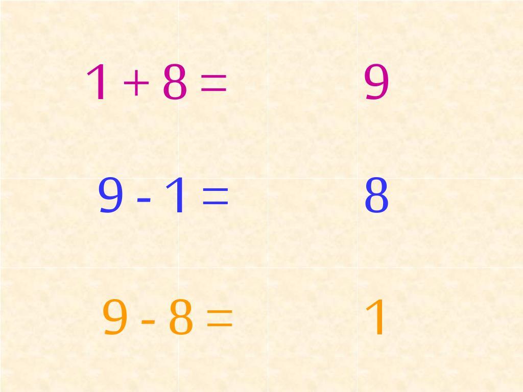 1 + 8 =