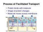 process of facilitated transport