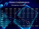 exames complementares hemograma e leucograma