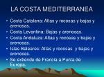 la costa mediterranea
