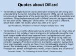 quotes about dillard