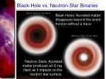 black hole vs neutron star binaries