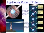 lighthouse model of pulsars