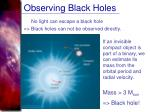 observing black holes