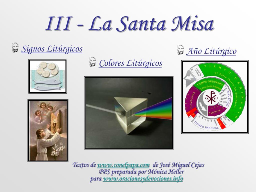 iii la santa misa l.