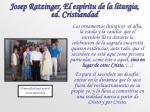 josep ratzinger el esp ritu de la liturgia ed cristiandad