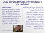 qu dice el catecismo sobre los signos y los s mbolos