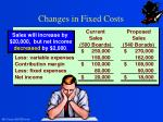 changes in fixed costs2